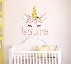 Amazon Com Personalized Unicorn Name Wall Decal Unicorn Room Decor Nursery Wall Decals Unicorn Wall Decor Mural Sticker Baby