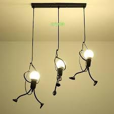 Kids Room Creative Small Iron Man Chandelier Boys Bedroom Ceiling Hanging Lamp Ebay