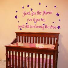Shoot For The Moon Wall Words Decals