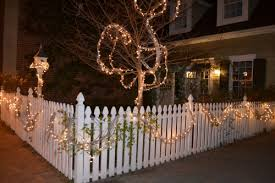 Fence Decorated For Christmas These Days Of Mine