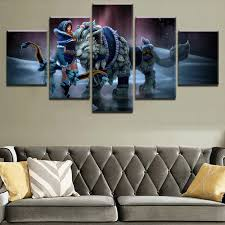 5 Panel Bow Dota 2 Fantasy Mirana Pet Lion Game Warrior Poster Wall Art Canvas Print Pictures Home Artwork With Free Shipping Worldwide Weposters Com