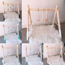 Nordic Style Cartoon Solid Wood Baby Kids Gym Ftness Rack Children Room Deco Toys With Ornaments Pendant Infant Clothes Frame Baby Activity Gym Aliexpress