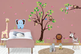 Nursery Wall Decals Nature Wall Art Large Tree Decal Birdhouse Nurserydecals4you