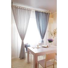 Nice Blue And White Gingham Chic Dining Room Curtains