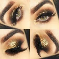 gold glitter eyeshadow fixing gel pot