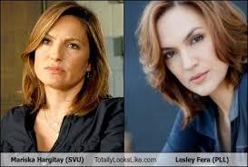 Mariska Hargitay (SVU) Totally Looks Like Lesley Fera (PLL ...