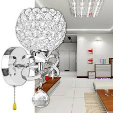 led crystal wall lamp bathroom mirror front