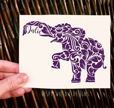 Personalized Boho Elephant Vinyl Decal Sticker Boho Elephant Name Custom Yeti Decal Car Decal Car Sticker Vinyl Decals Yeti Decals Vinyl Decal Stickers