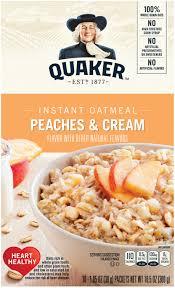 quaker instant oatmeal peaches cream