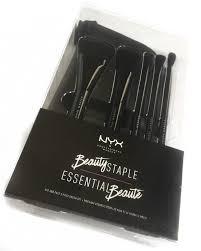 nyx beauty staple makeup brush set