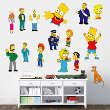 Simpsons Family Cartoon Wall Sticker Decal Decor Kids Bedroom Wall Sticker Simpsons D431 Wall Stickers Aliexpress