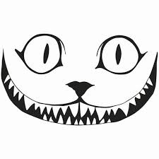Vinyl Decal Sticker Cheshire Cat Smile Decal By Decallabs On Etsy Cat Pumpkin Stencil Cheshire Cat Pumpkin Cat Pumpkin Carving