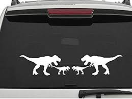 Amazon Com Decal Dan T Rex Family Large 26 Inch Vinyl Die Cut Car Truck Window Decal Sticker Laptop Automotive