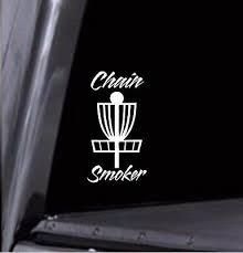 Chain Smoker Disc Golf Basket Vinyl Decal Car Window Sticker Any Color Usa Ebay