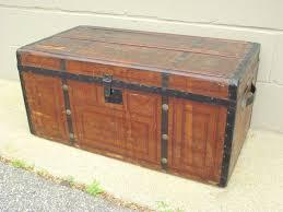 cottage steamer brown chest wooden