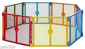 Toddler Play Yard Kid Playpen Baby Safety Fence Indoor Outdoor Gate Pets 8 Panel Baby Play Yard Baby Playpen Play Yard