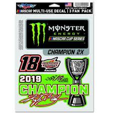 Kyle Busch 2019 Mencs Champion Decal Joe Gibbs Racing Store