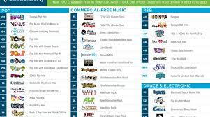 sirius xm radio free channels for 2