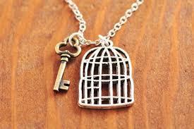 birdcage necklace silver bird cage