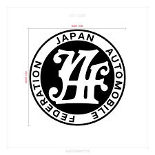 Japan Automobile Federation Decal Sticker Saitoworks