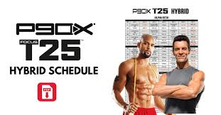 updated p90x t25 hybrid schedule free