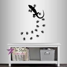 Vinyl Decal Chameleon Lizard Gecko Foot Prints Reptile Wall Art Sticker 1465 Ebay