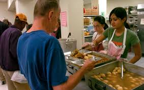 volunteering at a soup kitchens