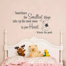 Quote Winnie Pooh Wall Decal Lettering Winnie Pooh Bedroom Etsy