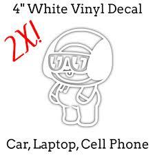 2x 4 White Bts Bt21 Chimmy Kpop Laptop Cell Sticker De