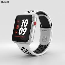 Apple Watch Series 3 Nike+ 38mm GPS Silver Aluminum Case Pure  Platinum/Black Sport Band 3D model - Electronics on Hum3D