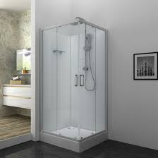 corner glass shower cabin square