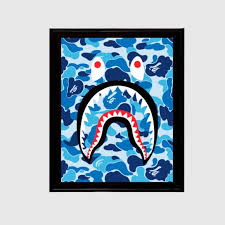 Wall Art A Bathing Ape Bape Blue Shark Camo 11x17 Print Poshmark