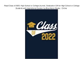 class of high school or college journal graduation gift