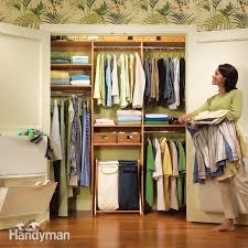 a simple closet rod and shelf system