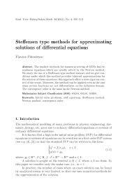 pdf steffensen type methods for