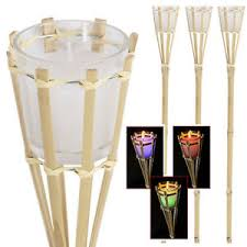 candle colour changing torch bamboo