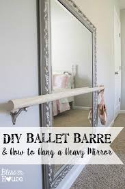 ballet barre and how to hang a heavy mirror