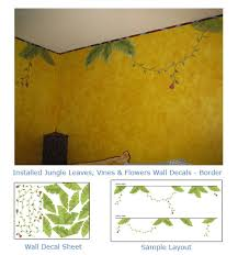 Jungle Vine Wall Art For Baby Nurseries Kids Rooms Jungle Leaves Vine Wall Decals