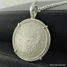 coin jewelry 1921 morgan silver dollar