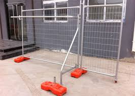 5 Year No Color Fading Temp Fence Base And Temporary Fence Panels 60mmx150mm Diameter 3 80mm As4687 2007 Standard