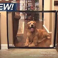 Magic Gate Dog Pet Fences Portable Folding Safe Guard Indoor And Outdoor Protection Safety Magic Gate For Dogs Cat Pet 2019 Dog Doors Ramps Aliexpress
