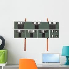 Scoreboard Wall Decal Wallmonkeys Com