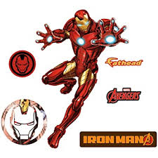 Amazon Com Fathead Iron Man Avengers Assemble Life Size Officially Licensed Marvel Removable Wall Decal Home Kitchen