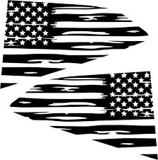 2016 2018 Chevy Camaro Distressed American Flag Quarter Window Decals Drew S Decals