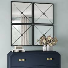jeffrey large framed wall mirror