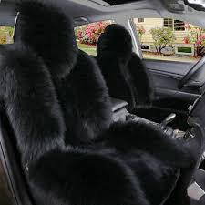 long wool front seat cover mat