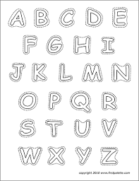alphabet upper case letters free