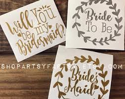 Will You Be My Bridesmaid Sticker Etsy
