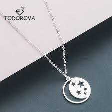 todorova crescent moon star necklaces