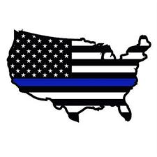 8 Thin Blue Line Usa Map Outline American Flag Decal Back The Blue Police Law Enforcement Vinyl Decal Blue Lives Matter Police Wife Die Cut Decal Car Window Vinyl Bumper Sticker Cars